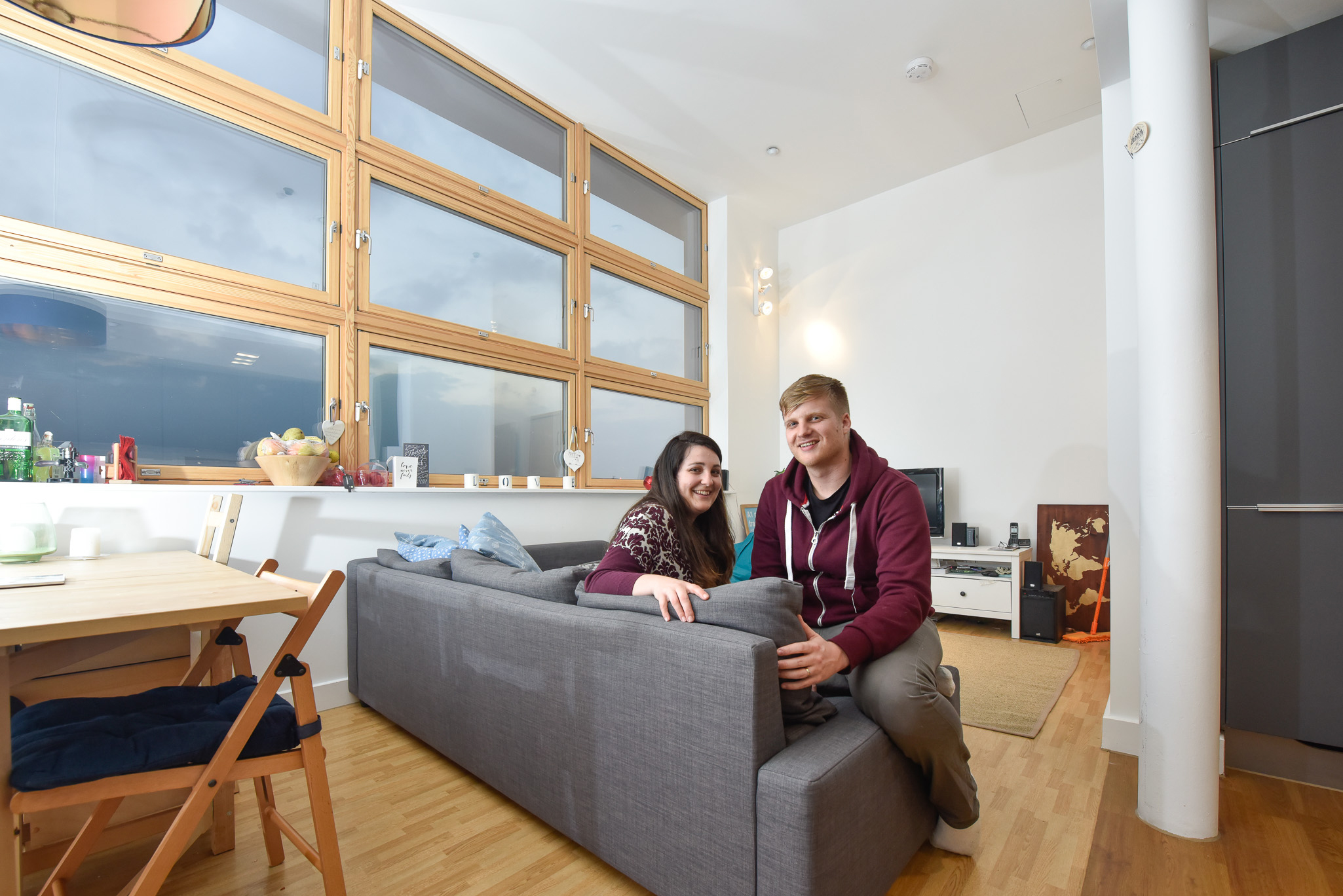 Maths teacher Naomi Bell, 28, is delighted with her flat which she shares with her husband Nathan.