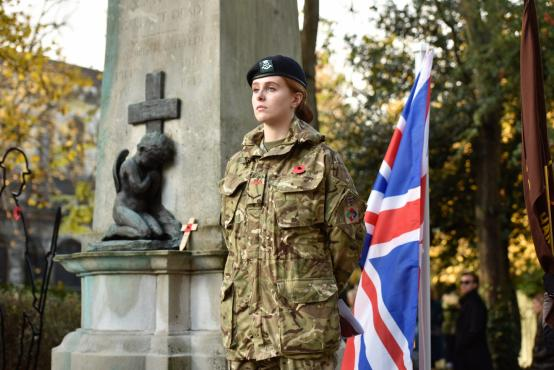 Remembrance Sunday service at Fulham War Memorial