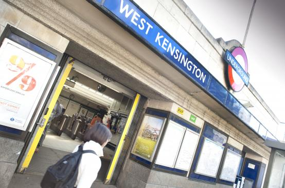North End Road is closed outside West Kensington tube station