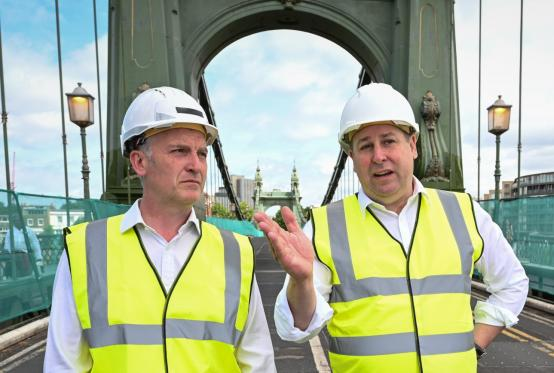 Cllr Gareth Roberts (left) and Cllr Stephen Cowan
