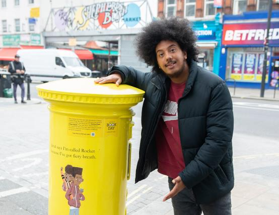 WORLD BOOK DAY: Local children's author Nathan Bryon unveils new Shepherds Bush digital postbox