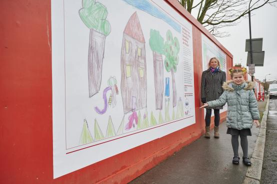 Sir John Lillie pupils add some colours to a Fulham estate