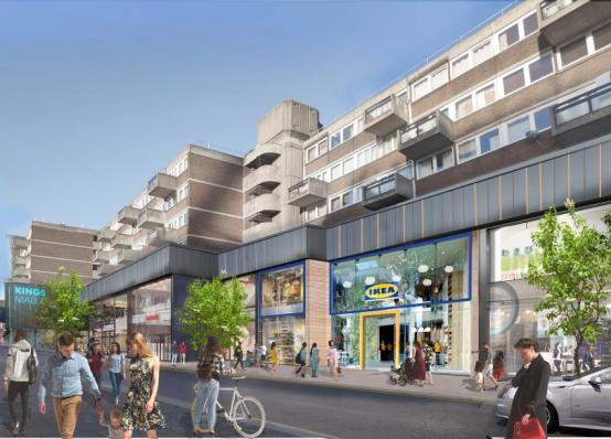 CGI of the proposed IKEA store in Kings Mall, Hammersmith