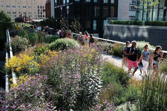 The popular New York City High Line