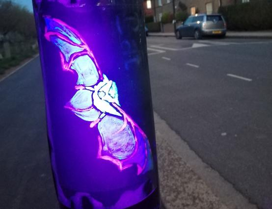 A glowing tribute pops up on the Old Oak estate