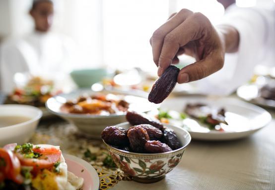 Iftar food on a table