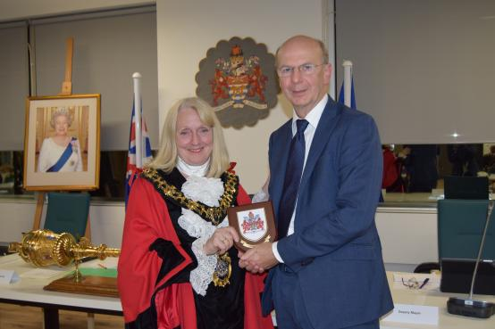 Steve Miley is recognised by the Mayor of H&F, Cllr Daryl Brown