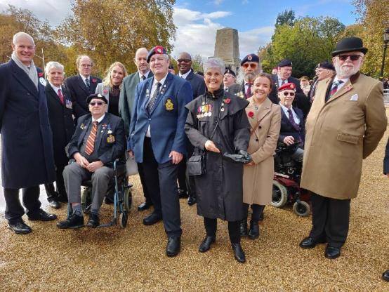 Group of Stoll veterans and charity staff standing together