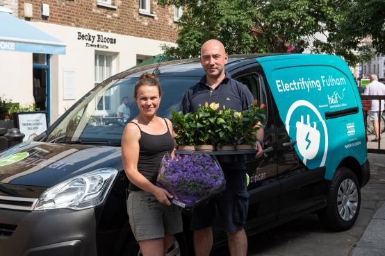 Local businesses save money and help tackle climate emergency with H&F's new electric van