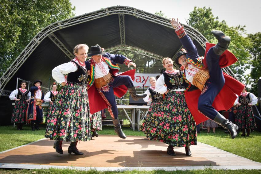 A Polish dance performance at CommUNITY Day in Ravenscourt Park