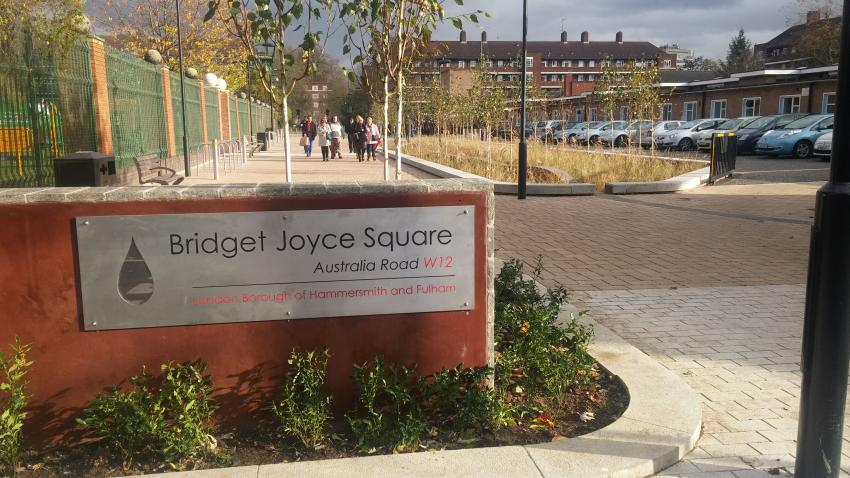 Sustainable drainage scheme Bridget Joyce Square scoops another award