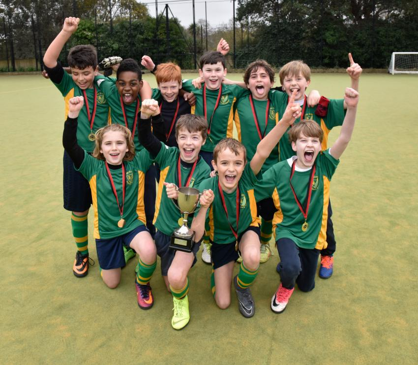 The boy's team from John Betts School won the Mayor's Cup for the first time