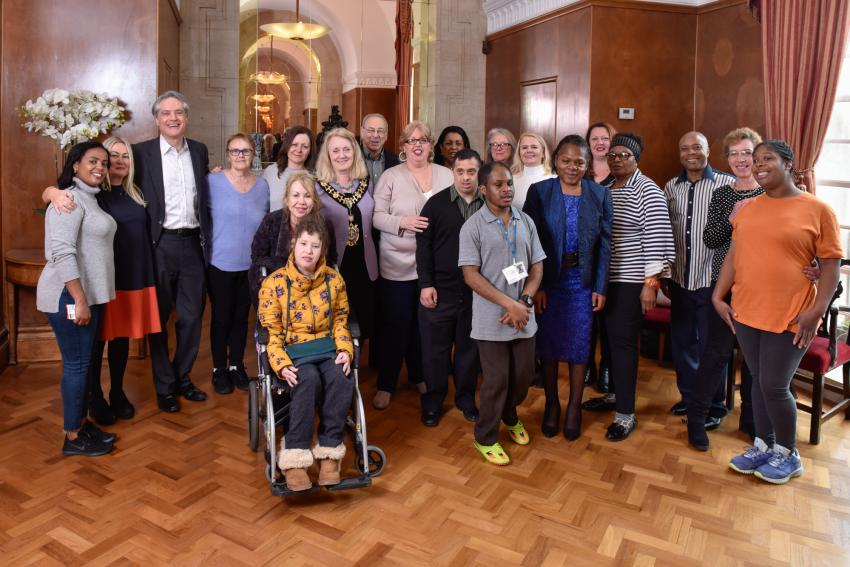 Staff and service users celebrate Rivercourt's success