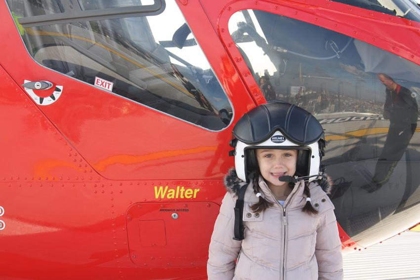 Megan Stocker won the competition to name the new air ambulance