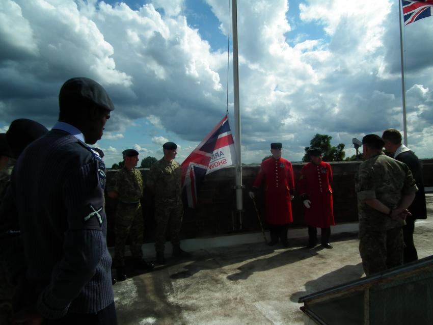 Raising the Armed Forces Day flag at Hammersmith Town Hall