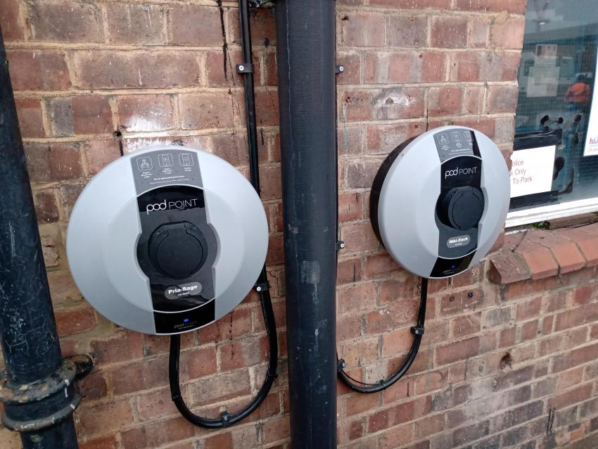 The new charging points have been installed in readiness for the electrification of the council's fleet of vehicles
