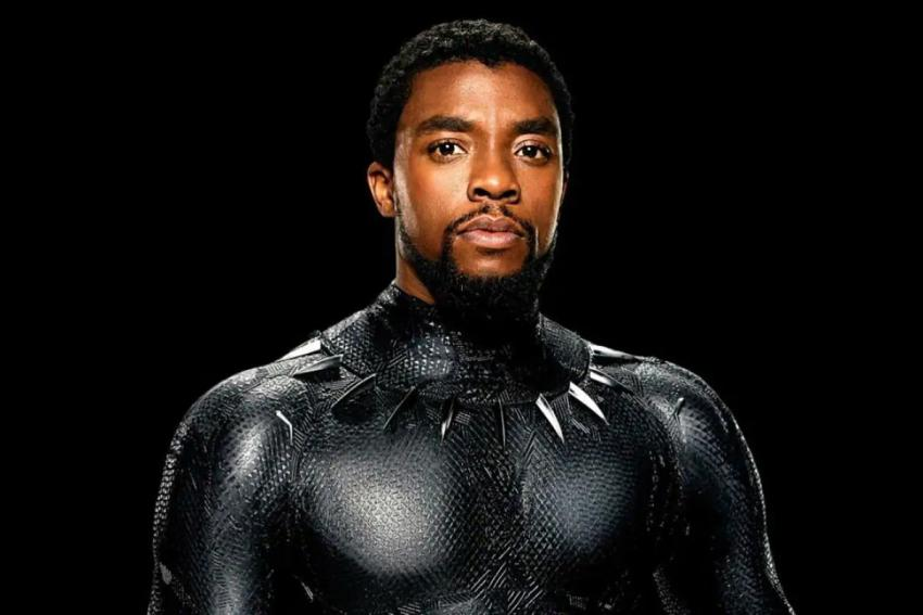 Chadwick Boseman in his Black Panther movie costume
