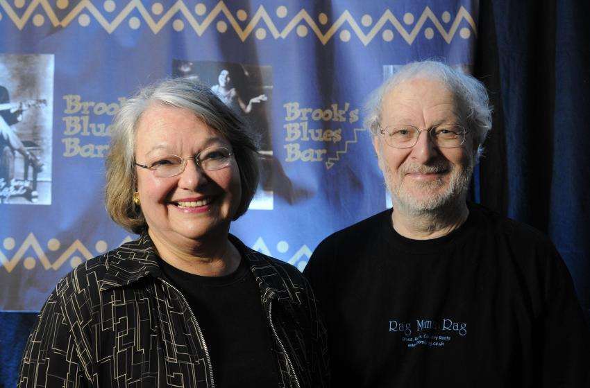 Ann Rosenberg and Tony Bell of the Brooks Blues bar