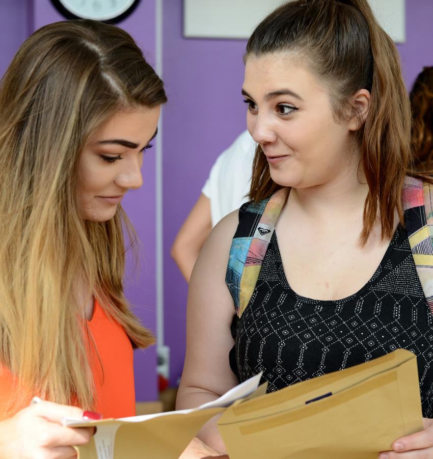 Many students were delighted with their results