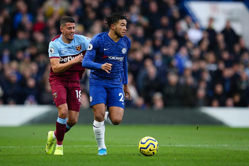 Chelsea defender Reece James and West Ham midfielder Pablo Fornals