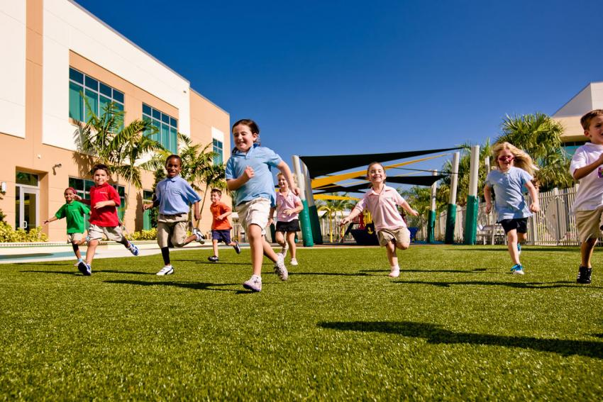 children playing outside - Images Of Children Playing At School