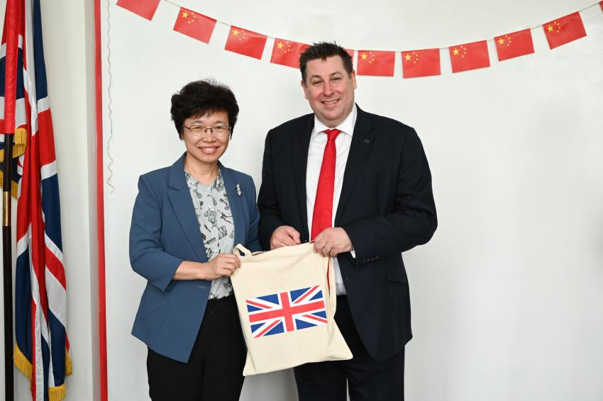 Chinese delegation visits Hammersmith Town Hall to meet the council Leader, Cllr Stephen Cowan