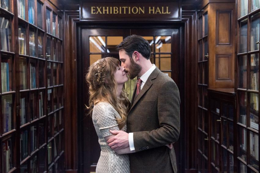 Chloe Shipman and Gordon Hutcheson make their vows at Fulham Library