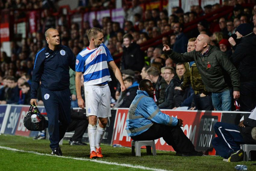 Clint Hill prepares to face Brentford once again. Here's what happened the last time Bees fans said hello. Picture: Action Images