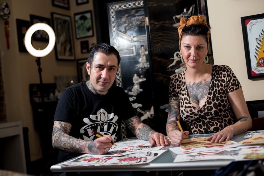 Diogo 'Xico' Melo and Jo Szwedzinski of ForevermoreTtattoo