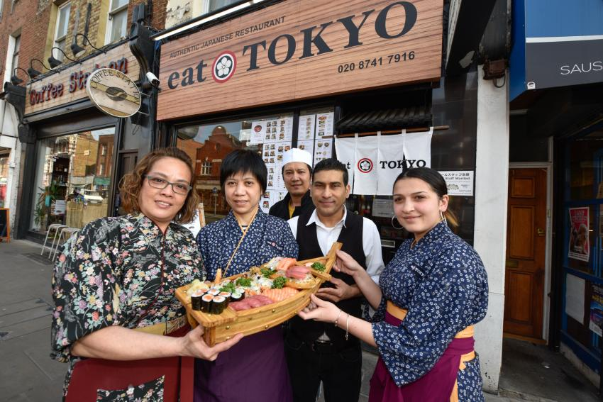 Staff outside the Eat Tokyo retaurant
