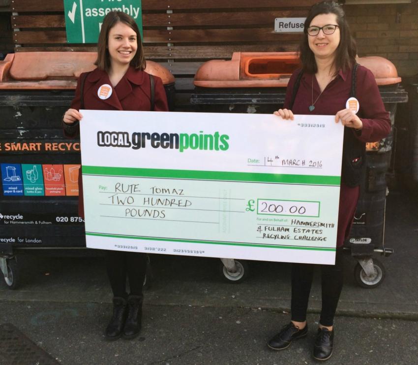 Recycler Rute Tomaz won a £200 prize