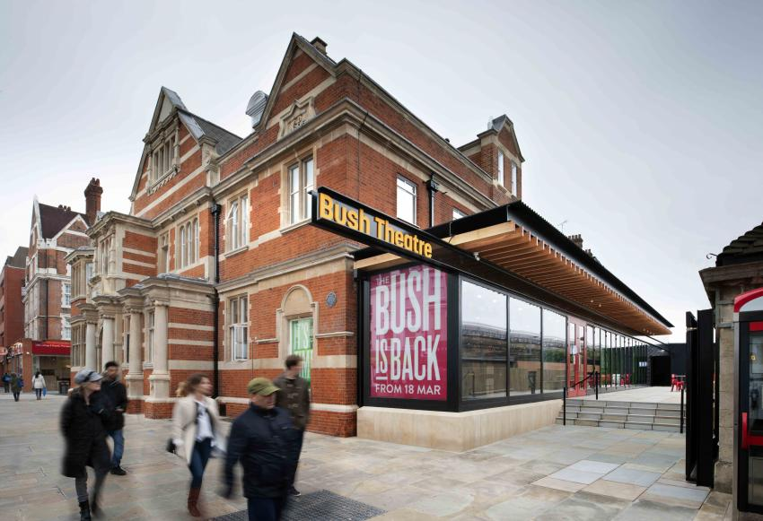 Exterior view of the Bush Theatre extension