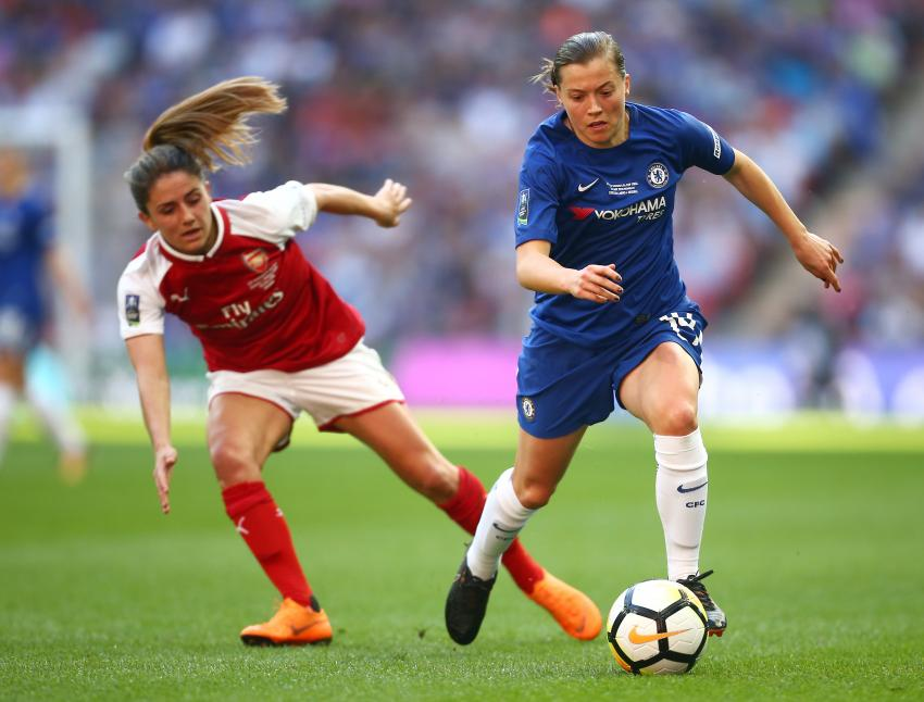 Fran Kirby playing for Chelsea Women in the 2018 Women's FA Cup Final