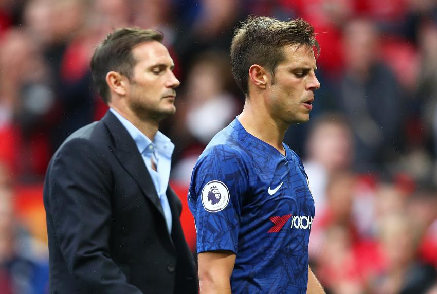 Chelsea manager Frank Lampard and captain Cesar Azpilicueta