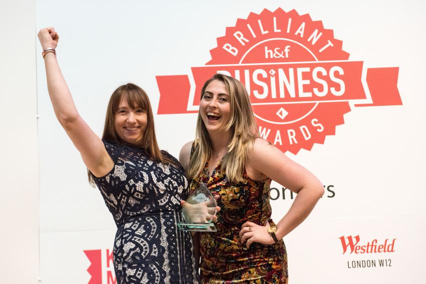 Gina's Cakes win an award at the 2018 Brilliant Business Awards event