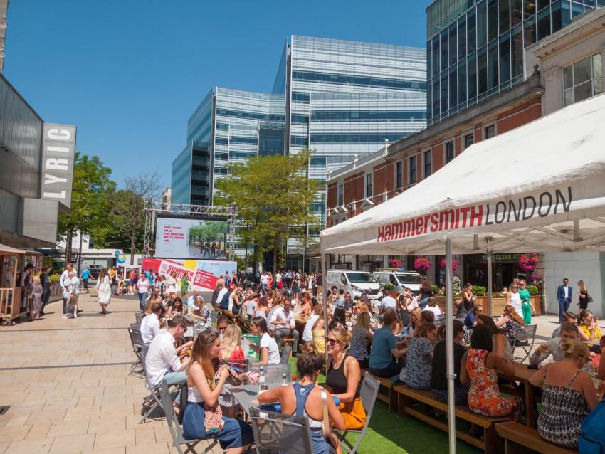 The Hammersmith BID Summer Festival in Lyric Square
