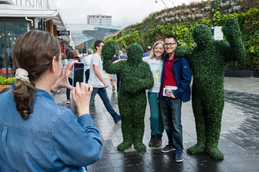 Hedge people at Westfield London