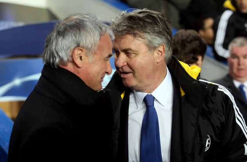 Claudio Ranieri and Guus Hiddink. Picture: Action Images