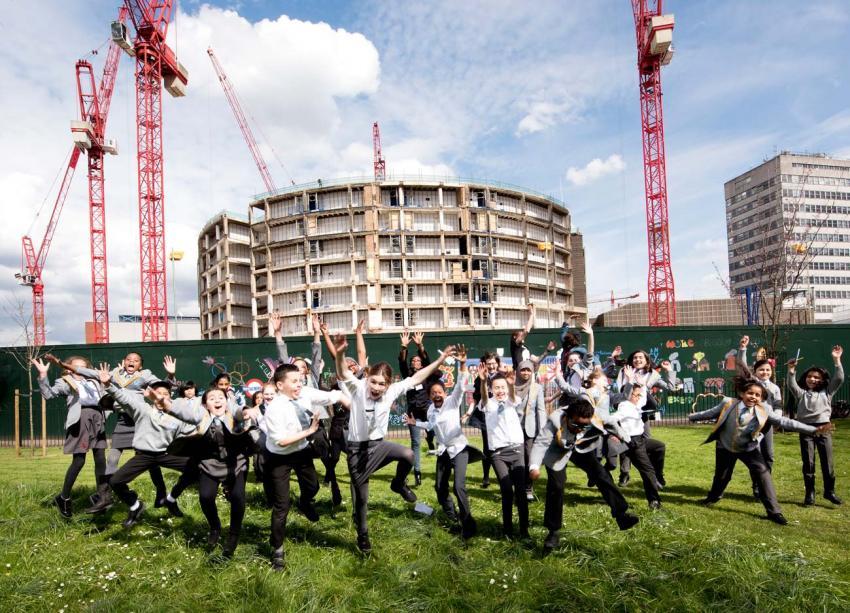 Ark Swift Primary Academy pupils celebrate