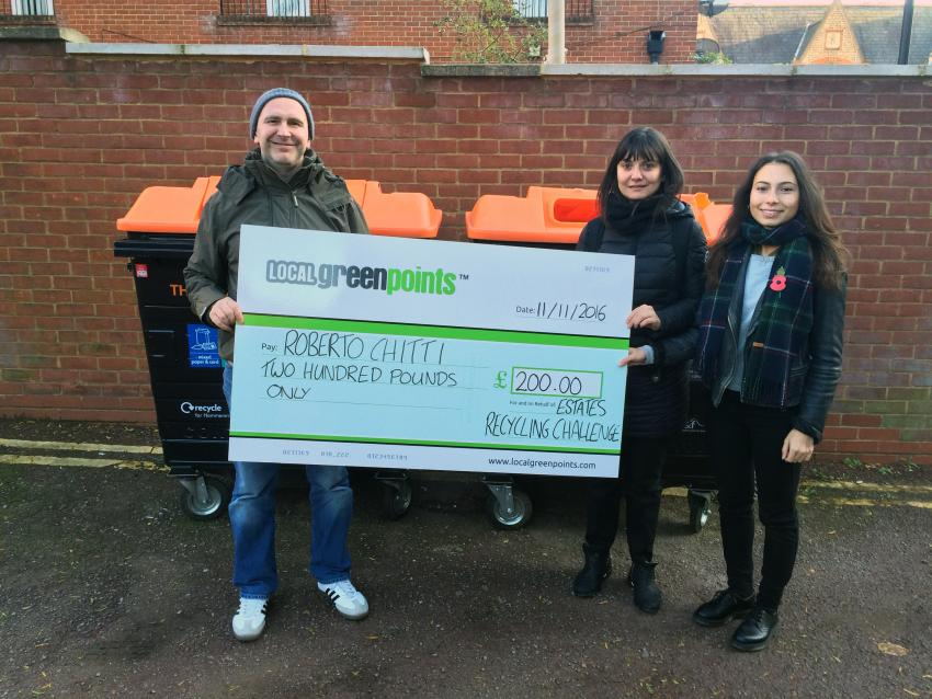 Roberto Chitti, 49 has been given a winter boost after scooping £200 as part of a competition to reduce waste on Hammersmith & Fulham's estates.