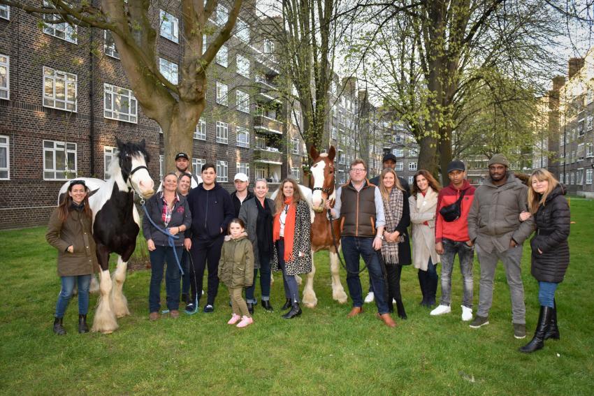 Key4Life horses Splash and Joe visit the White City Estate