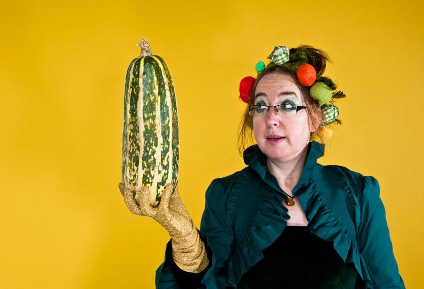 Vegetable artist Madam Zucchini