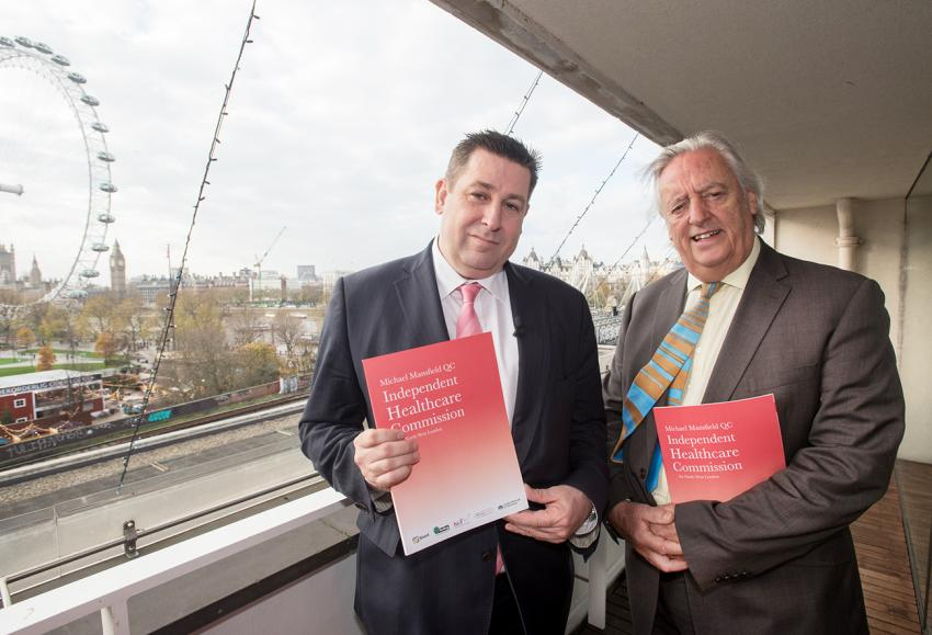 Cllr Stephen Cowan and Michael Mansfield QC at report launch