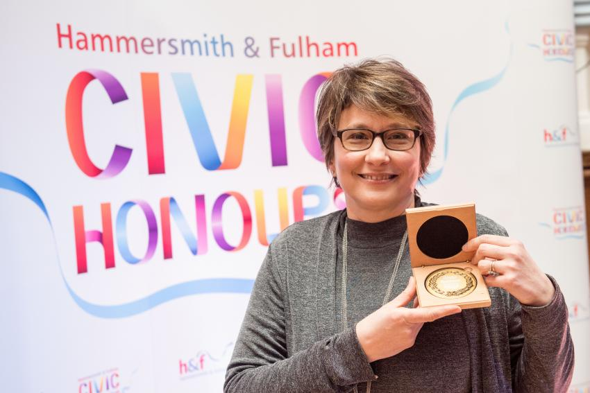 H&F Civic Honour winner Daphine Aikens