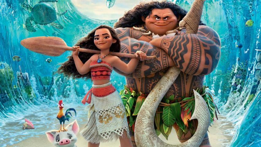 Drawn characters from the Disney film Moana