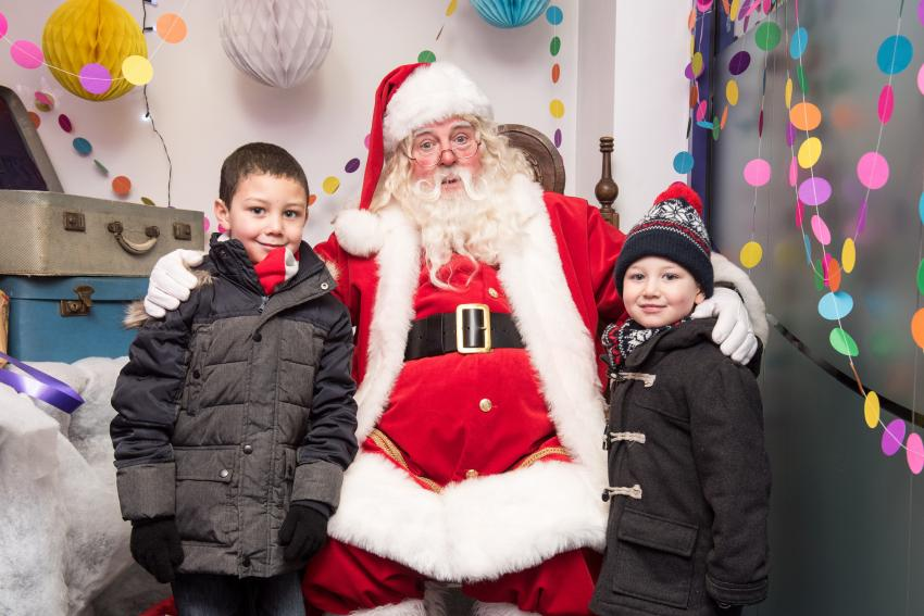 Santa Claus at North End Road Christmas Market