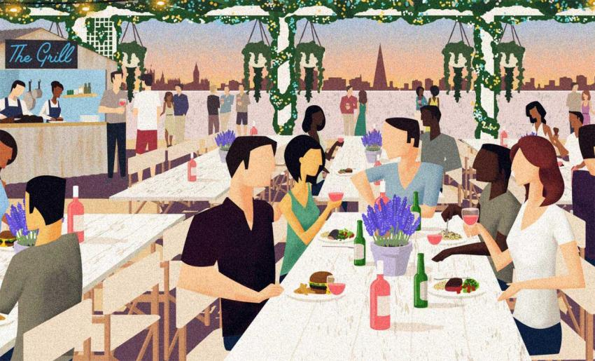 The Pergola on the Roof is preparing to offer rooftop dining - as well as views of White City