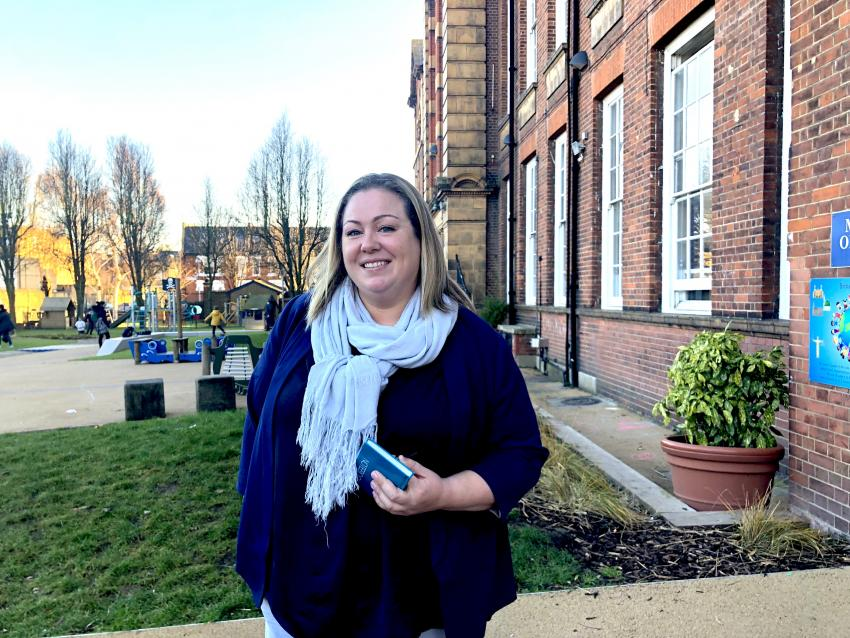 Phoebe du Parcq, new headteacher at Queen's Manor Primary School in Fulham