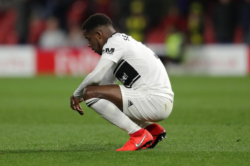 Ryan Sessegnon dejected at Watford on relegation