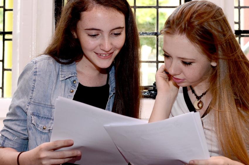 Students' results bucked the national trend